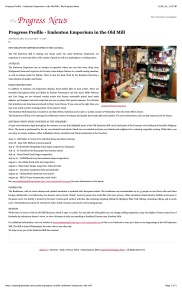 Progress Profile - Emlenton Emporium 1 page