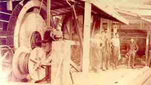 Circa 1894, Newton A. Carroll's rebuild team
